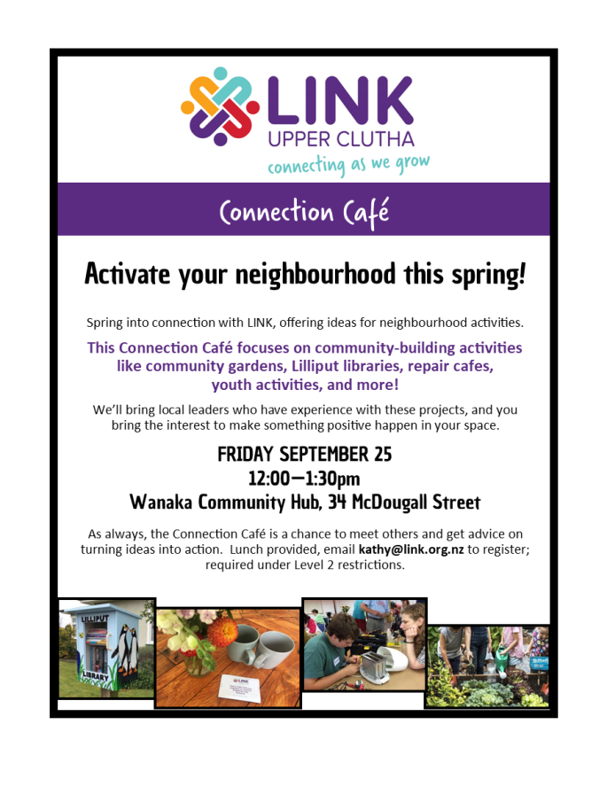 connection cafe -link upper clutha